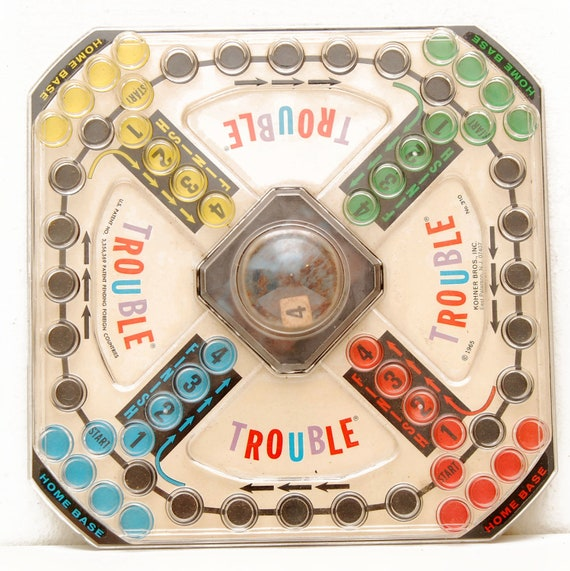 Vintage 1965 Trouble Game, Board Only, Pop O Matic