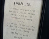 Peace Quote Sign