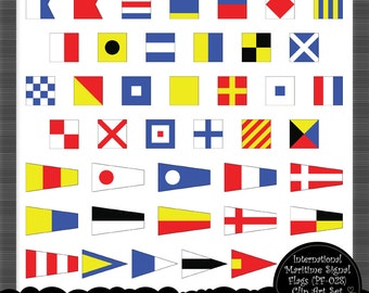 Maritime Code Signal Flags - Clip Art Set for Personal and Commercial Use by Nahhan 73 (PF-028)