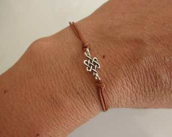 Celtic knot friendship bracelet sterling silver