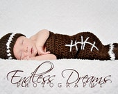 Instant Download - PDF Football Cocoon and Hat PATTERN - permission to sell finished items - Newborn Photography prop