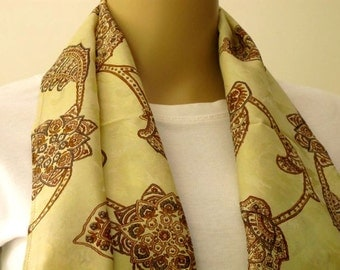 Silk Scarf, Sari Scarf, Woman Accessories