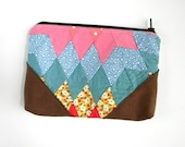 Recycled Diamond Quilt Cluch Pouch
