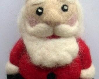needle felted Santa Claus pattern