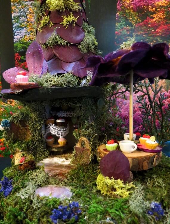 Fairy House, Miniature, Cupcake Cafe, Miniature House, Woodland Fairies, Woodland, Fairies