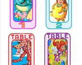 Candy Land Party Decoration  Table Numbers  SET OF 9