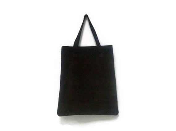 Brown Suede Leather Tote bag Shopper