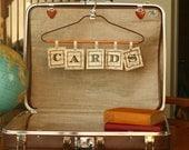 Reserved for Stefani - Vintage Brown Leather Suitcase, Wedding Card Box, Vintage Suitcase Card Box, Wedding Decor, Mod Wedding, Cards