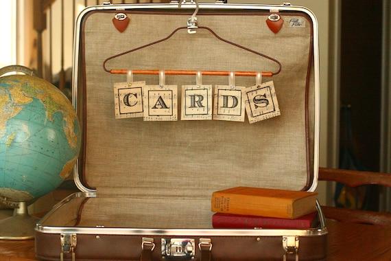 Vintage Suitcase Card Box Suitcase Wedding Card Box