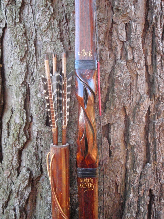 "... 17"", Red Oak and Bamboo with Carp skin, comes with arrows and quiver"