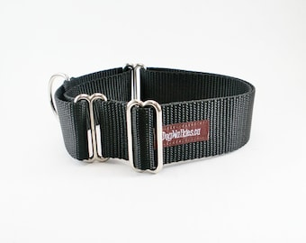 "Mix and Match 1.5"" (38mm) Martingale Dog Collars- Adjustable Custom Sized - Your Choice of Colors"