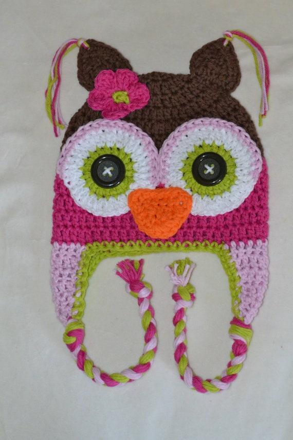 Crochet Pattern For Newborn Newsboy Hat : baby owl hat kids owl hat newborn owl hat crochet owl hat