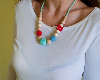 Nursing Necklace/Teething Necklace by SimplyaCircle-Breastfeeding Necklace