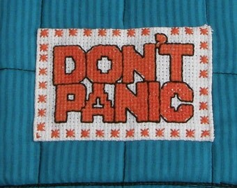 Don't Panic Quilted Kindle Cover - Turquoise