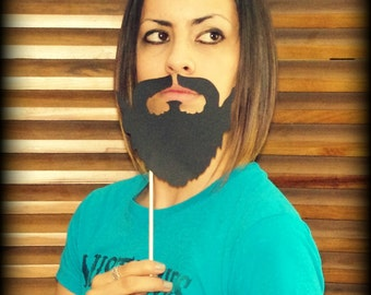 Beard on a Stick- Little Man Party- Mustache on a stick-Photo Props- Photo Booth- Mustache Party-Little Man- Mustache Costume