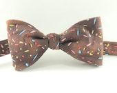 Boys Bow Tie Prop Chocolate with Rainbow Sprinkles Freestyle - HeirloomsbyElisabeth