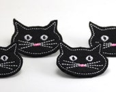 Felt Embellishments - Black Cats