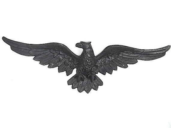 Large 1950 39 S Cast Iron Eagle Vintage Americana By