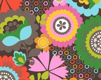 Gabbie - Serendipity in Brown - 101.105.01.2 -  Maude Asbury for Blend Fabrics- 1/2 Yard
