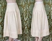1930s skirt / 30s cotton skirt / wedding skirt