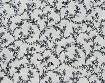 Braemore Black Vines Toile Decorator Fabric - 1 yard