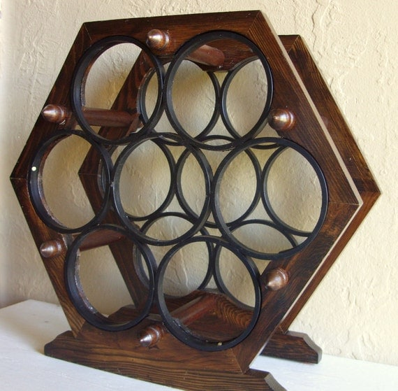 Modern Hexagon Wood Wine Rack Wooden Bottle Holder By