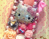 Handmade Adorable Hello Kitty Bling Bling Case for Samsung Galaxy S2 i9100