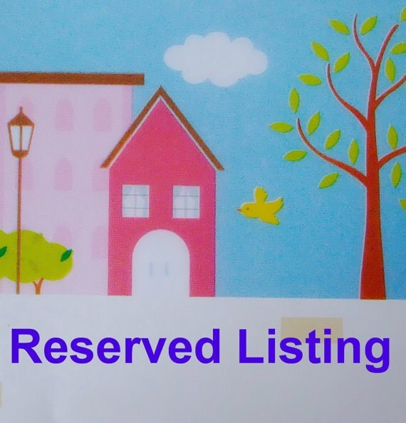 Reserved listing for Karyn Prehm