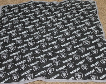 NFL Oakland Raiders  Baby Quilt Ready to Ship