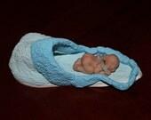OOAK Polymer Clay Fairy in a Slipper