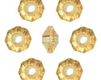6mm Sun Gold Rondelle Beads (960 Beads)