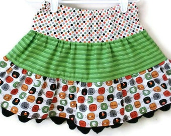 Halloween Skirt, Toddler Halloween Skirt, Little Girl Skirt, Skirt, Girl Halloween Skirts, Girl Skirts, Little Girl Halloween Skirt, Skirt