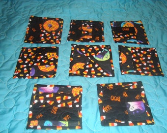 Halloween Theme  Quilted coasters, mugrugs