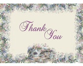 Thank you - notecard - Initial card - Printable - DIY Custom -