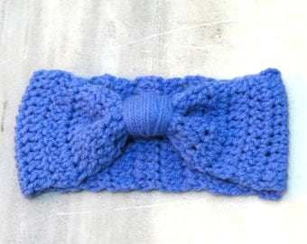 Knotted Head band Knitted Turband Ear Warmer in Soft Blue. Ear Warmer, Head Dress, Winter Fashion, Hair Bands Hair Coverings for Women