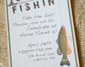 INSTANT DOWNLOAD Fishing Printable Gone Fishin' Invitation Instant Download- DIY/Customize Editable in Adobe Reader