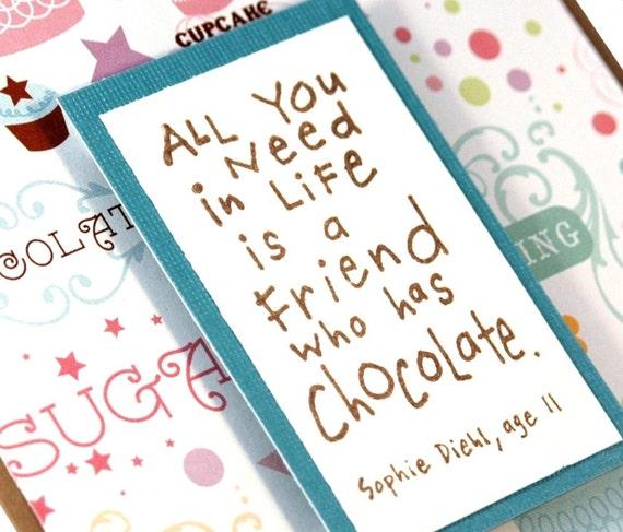 Friendship card, Thinking of You Card, Handmade Greeting Card