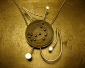 Scorpio Constellation Necklace with Zodiac Symbol Wirework - Sterling Silver