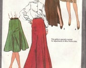 Slim or Flared Gored Skirt Pattern Simplicity 9772 Size 10 Uncut