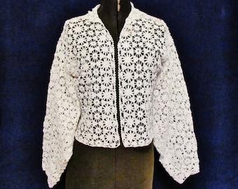 Antique Irish crochet jacket, c.1905 medium size jacket in perfect condition