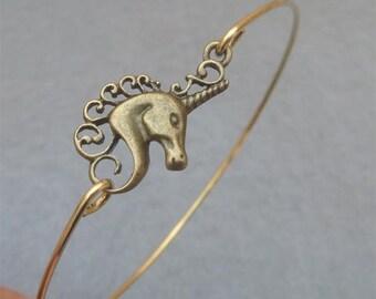 Unicorn  Bangle Bracelet