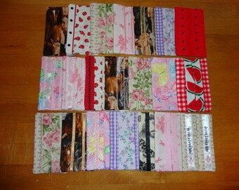 Set of 21 Pocket Size Tissue Covers by Sew Practical, Mom and Pop Craft