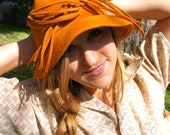 Hippie boho mustard colored hat