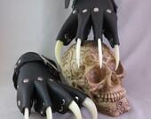 Gothic Steampunk Glow-In-The-Dark Claw Gauntlets / Gloves