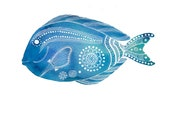 Blue Tang Fish Archival Art Print