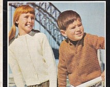 On Sale - Villawool Designs for Children Knitting Pattern No 155  Vintage 1970s