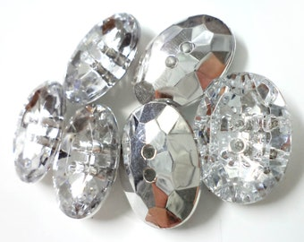 20 PCS Rhinestone Crystal Diamond Buttons for Sewing , Crafts, Jewelry and Accessories