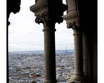 Paris Landscape View from Sacre Coeur Photo Print