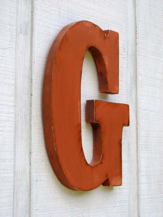 distressed wood letters personalized rustic wooden letters g distressed painted terra 21380