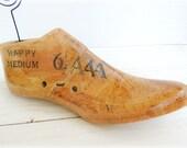 Place Card Holder Repurposed Wood Shoe Form Photo Memo Clip Vintage Ephemera Finish